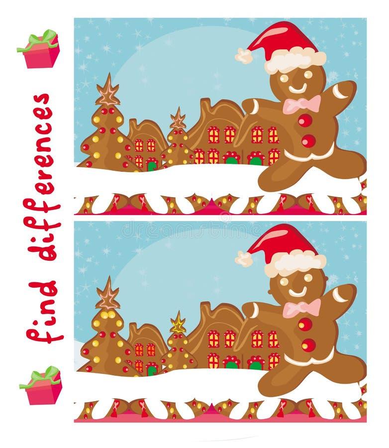 Diferenças do achado - pão-de-espécie Santa ilustração royalty free