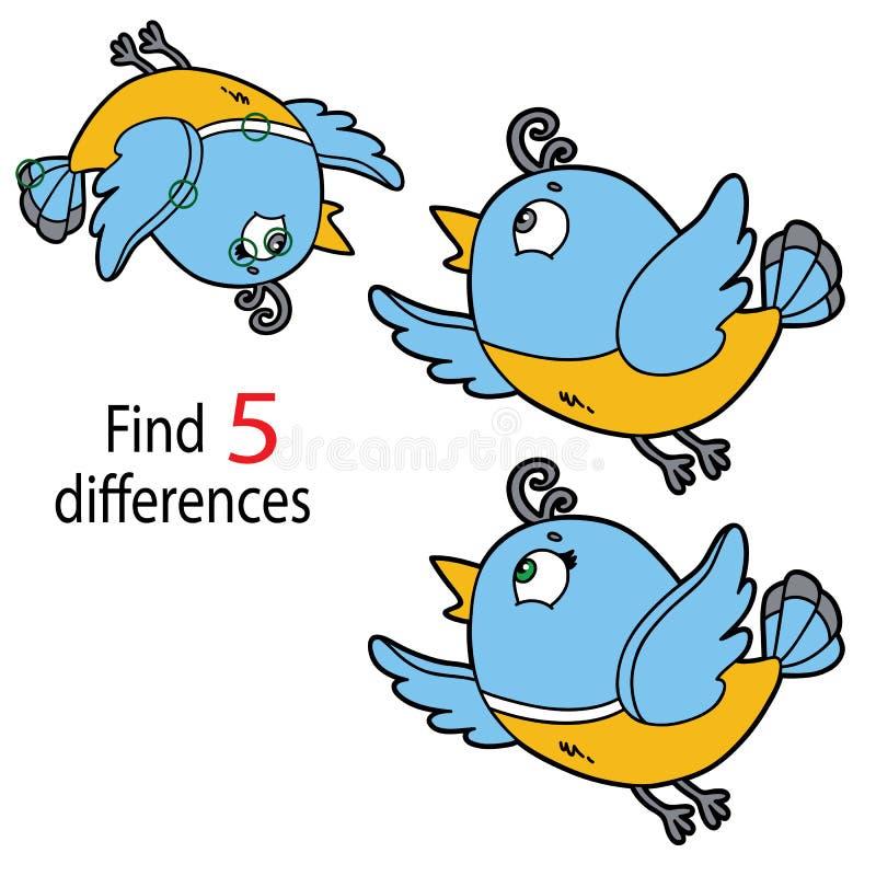 Diferenças do pássaro ilustração do vetor