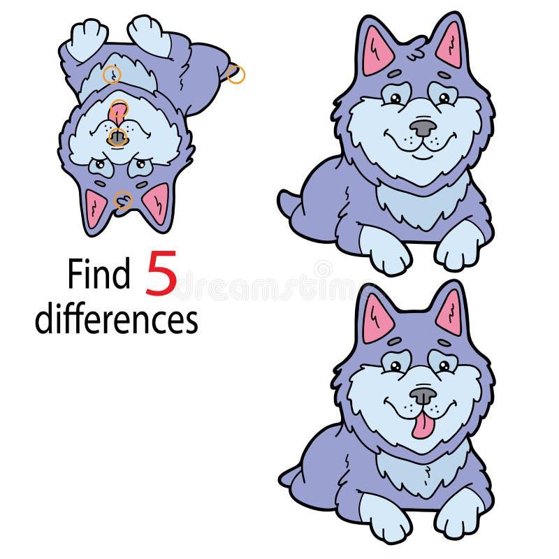 Diferenças roncas ilustração royalty free