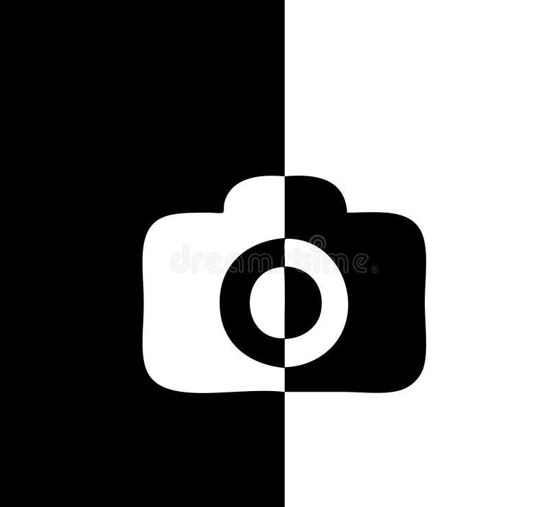 Diferencia cómica blanco y negro del icono de Camer libre illustration