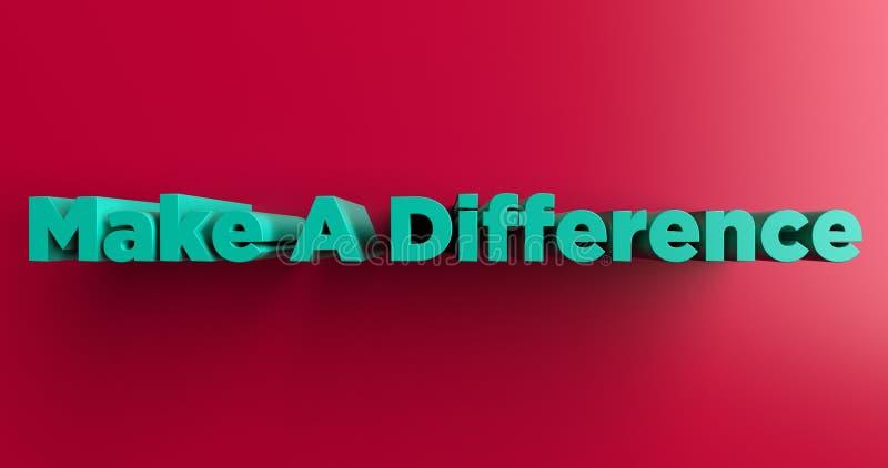 Diferencie - ejemplo colorido rendido 3D del título libre illustration