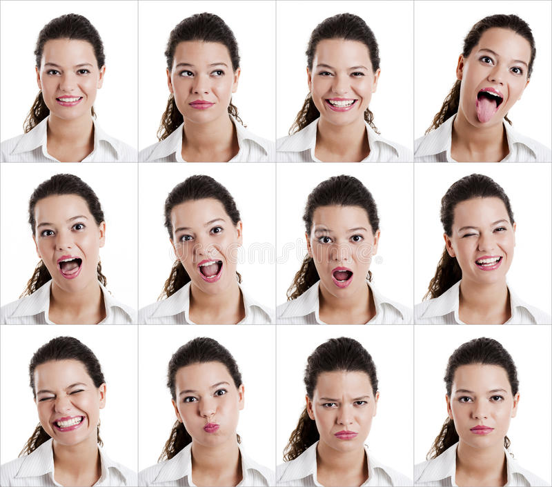 Diferent Expressions Stock Photo
