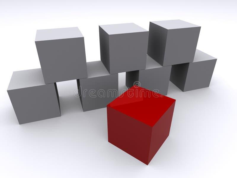 Diferente ilustração stock