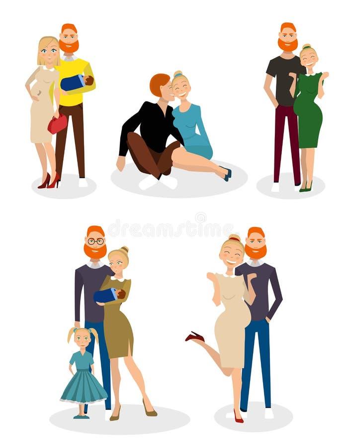 Diferente tipo de familias libre illustration