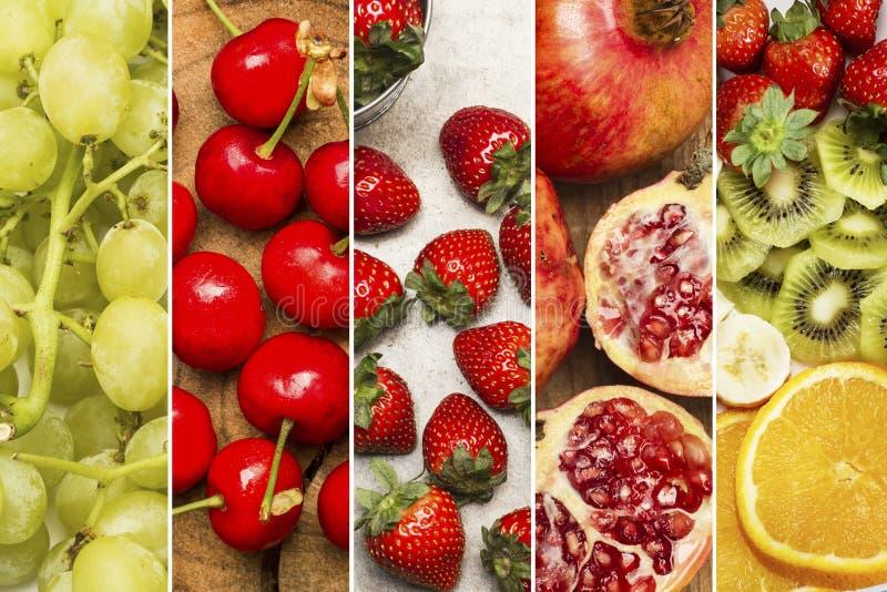 Diferente tipo de fruta en un fondo blanco imagenes de archivo