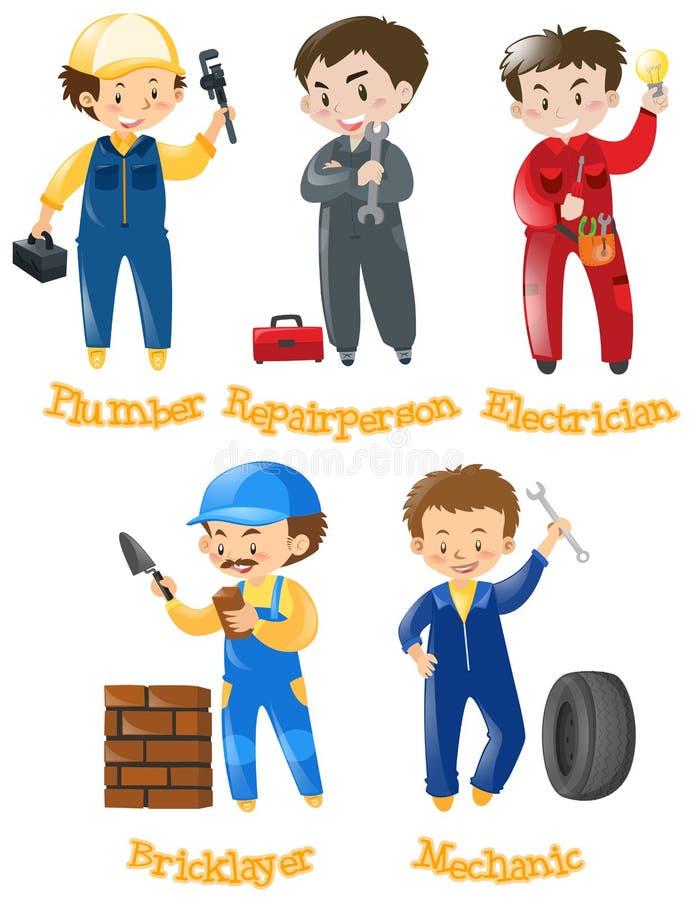 Diferentes tipos de trabajos de la construcci n stock de for Diferentes tipos de viveros