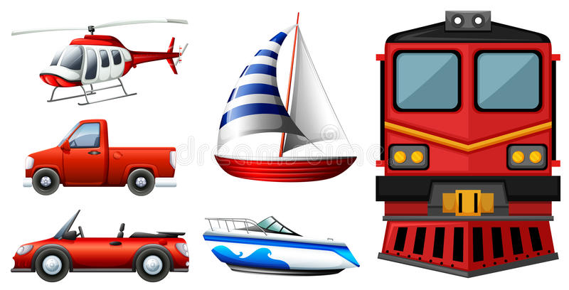 Diferentes tipos de transportes libre illustration