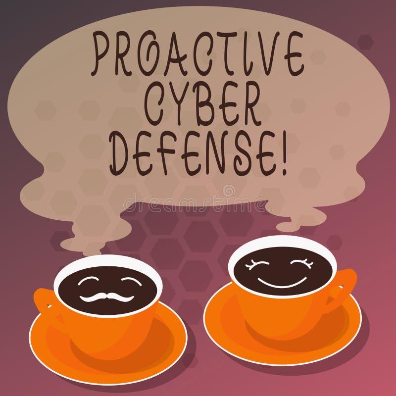 Difesa cyber dinamica del testo di scrittura di parola Concetto di affari affinchè anticipazione si oppongano ad un attacco che c illustrazione vettoriale