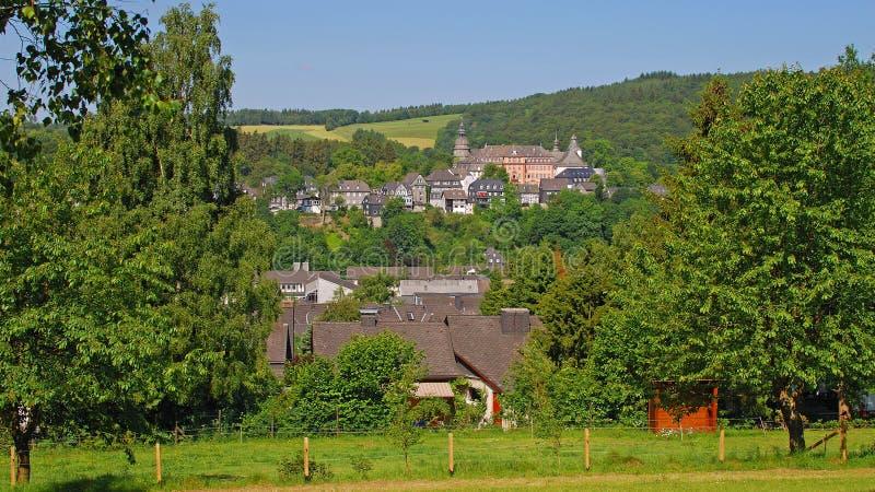 Difettoso-Berleburg, Sauerland, Germania immagine stock