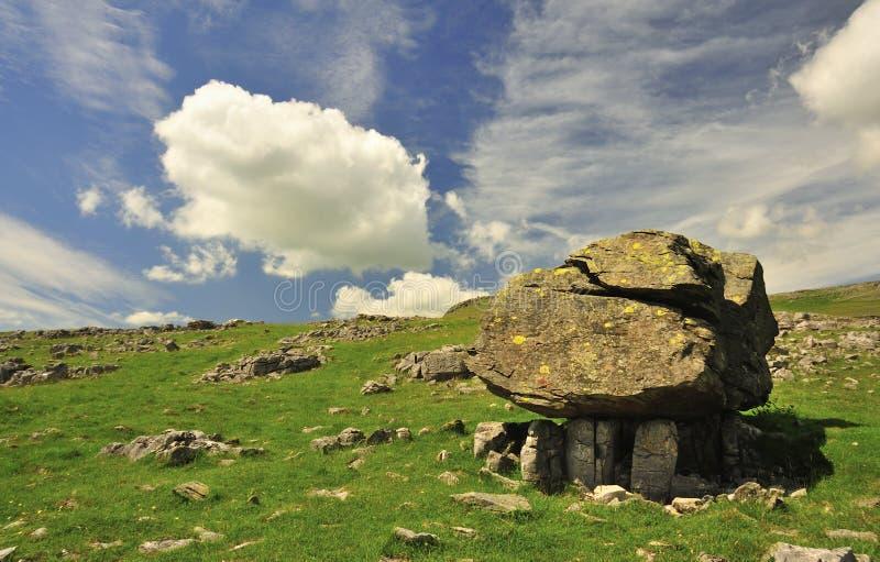 Difettoso geologico, Norber, Yorkshire fotografie stock libere da diritti