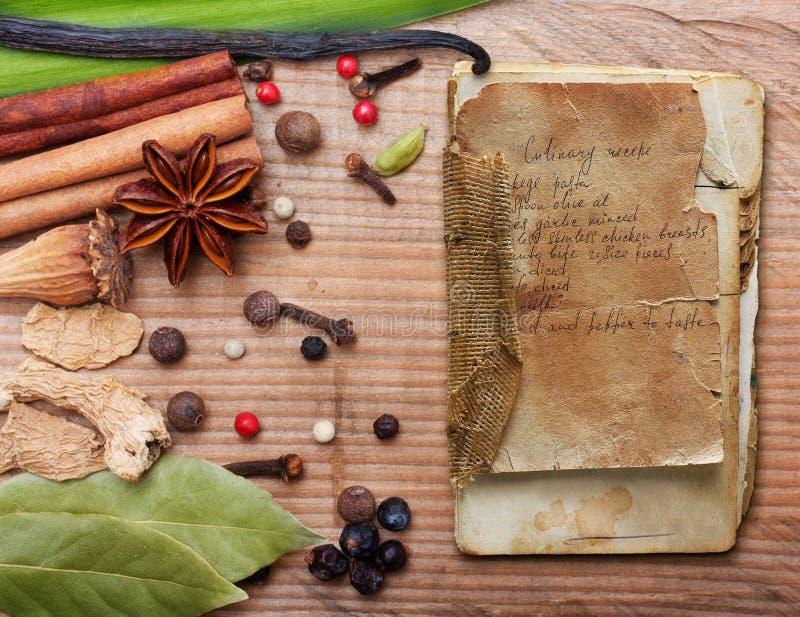 Différentes épices et herbes photographie stock libre de droits