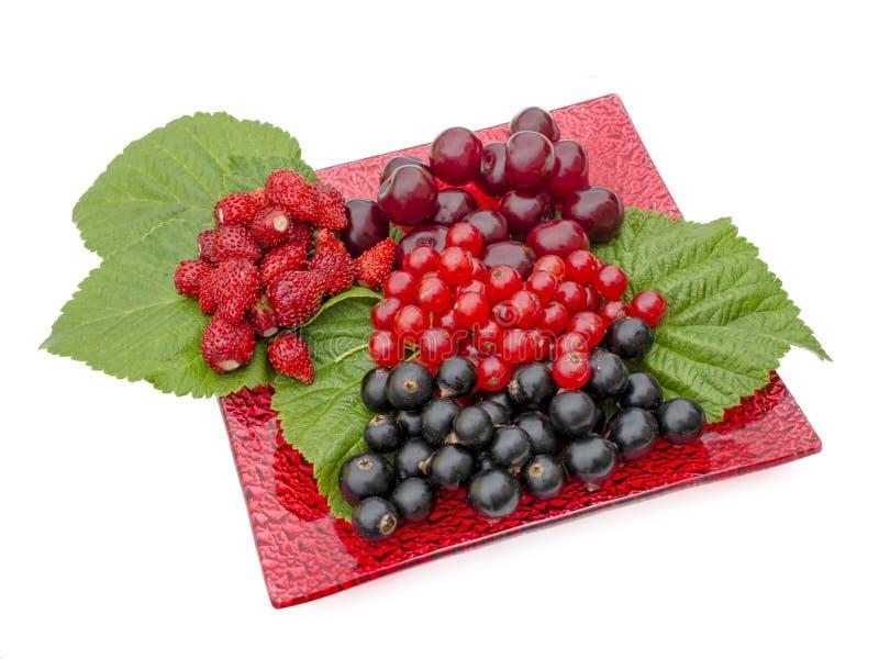 Download Différentes Baies Se Trouvant D'un Plat Rouge Image stock - Image du sain, nourriture: 45353805