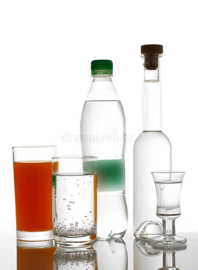 différentes boissons photo stock