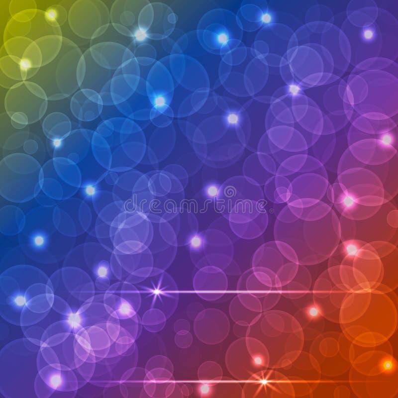 Différentes couleurs Bokeh, lumière abstraite. illustration de vecteur