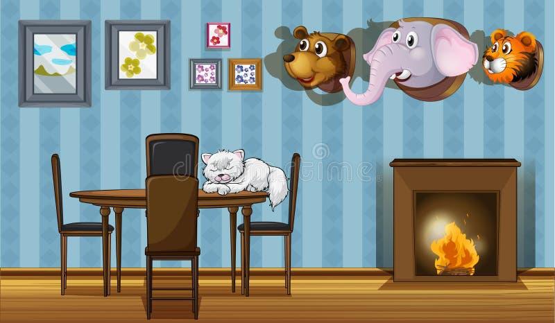 Différentes décorations de mur illustration stock