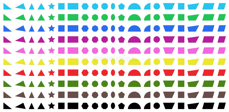 Différentes formes illustration stock