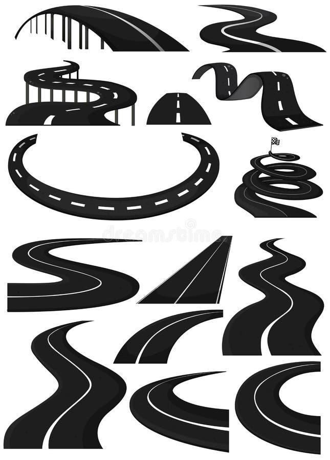 Différentes formes des ruelles illustration libre de droits