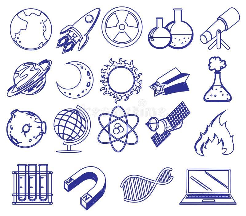 Différentes images de la science illustration stock