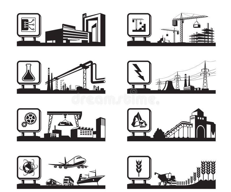 Différentes industries avec le logo illustration de vecteur