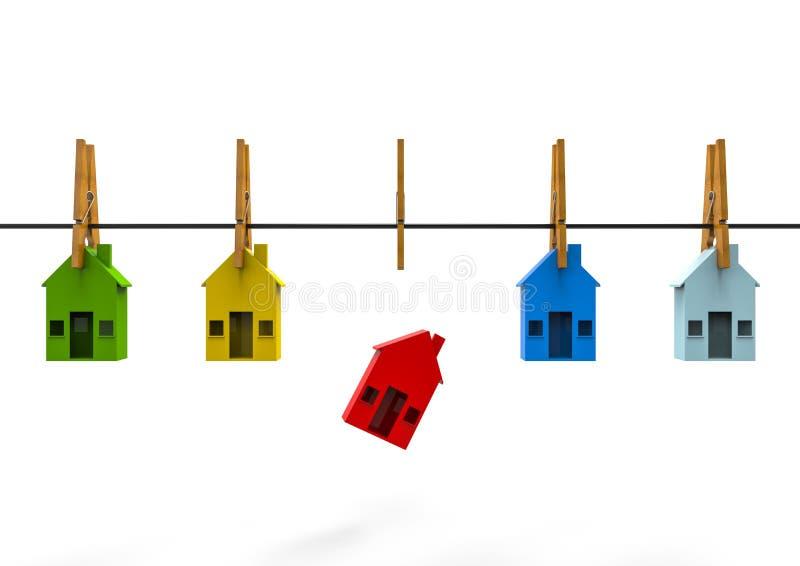 Différentes maisons illustration libre de droits