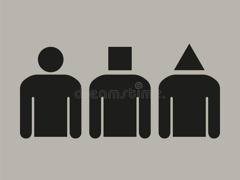 Différentes personnalités illustration stock