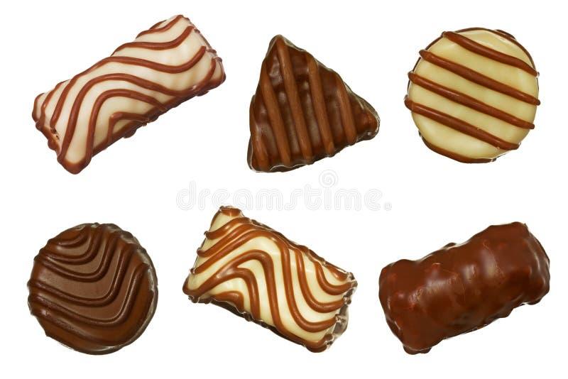 Différentes pralines de chocolat photo stock