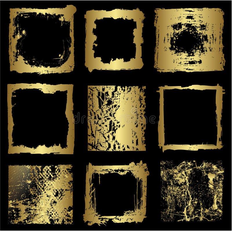 Différentes trames d'or   illustration de vecteur