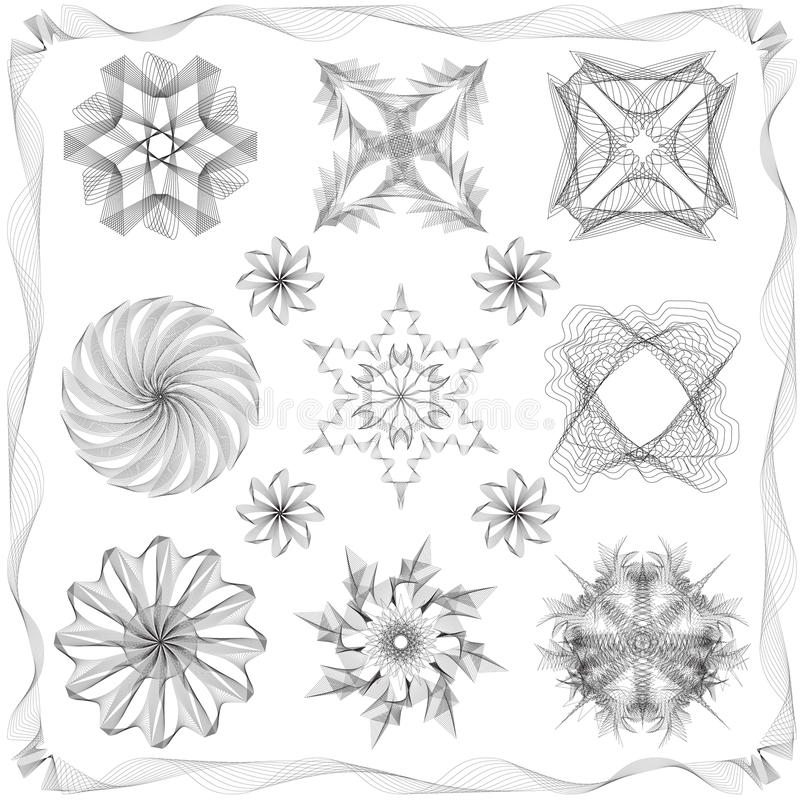 Différents éléments de conception de type illustration stock