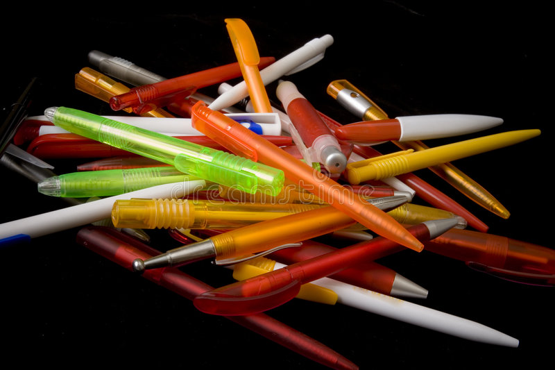Différents crayons lecteurs photos stock