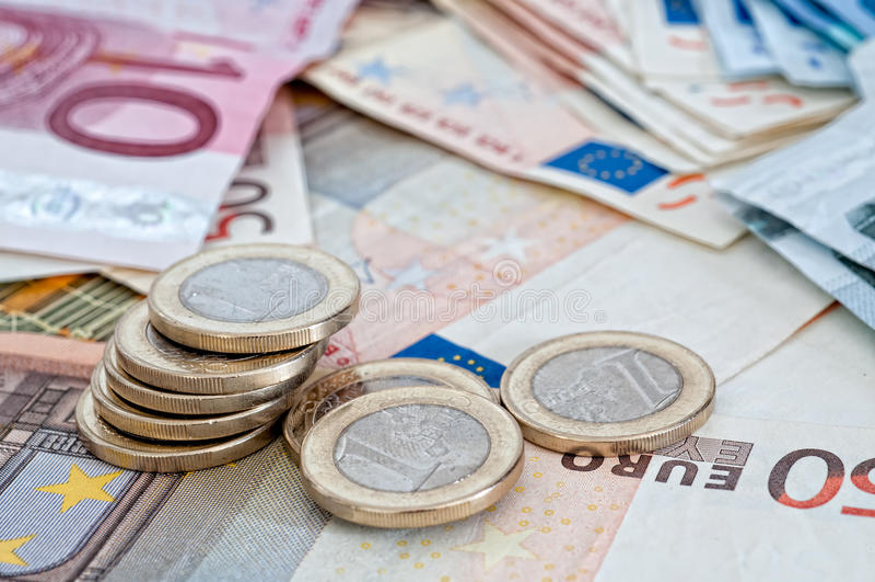 Différents euro billets de banque photos libres de droits