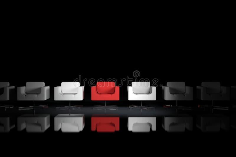 Différents fauteuils illustration stock