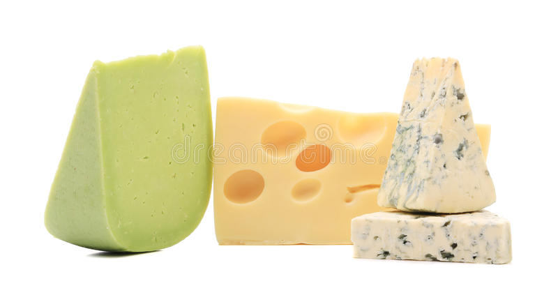 Différents fromages. photographie stock