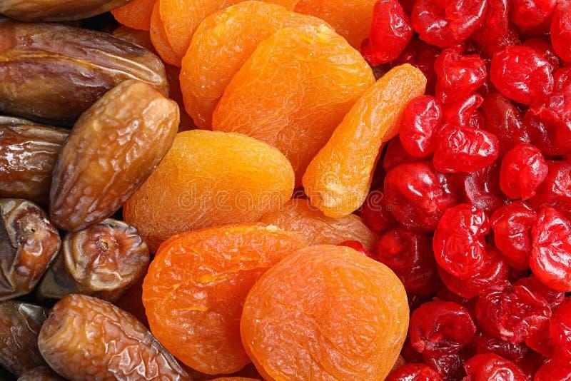 Différents fruits secs comme fond, vue supérieure image stock