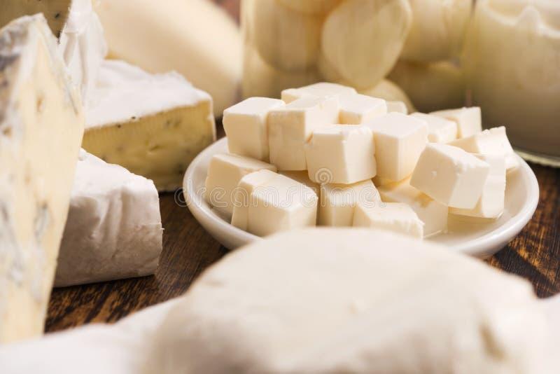 Différents genres de fromage photographie stock