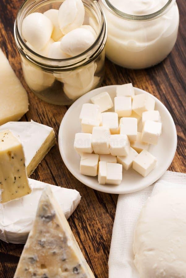 Différents genres de fromage image libre de droits