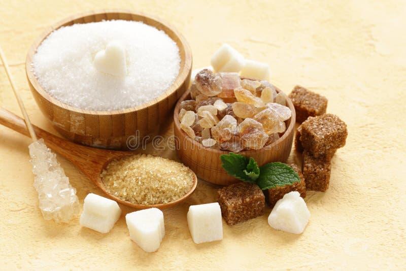 Différents genres de sucre photo libre de droits