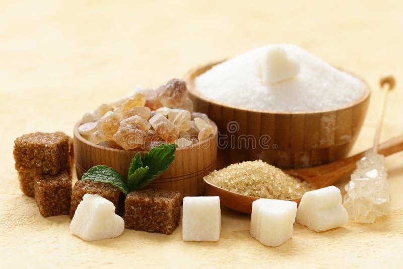 Différents genres de sucre image stock