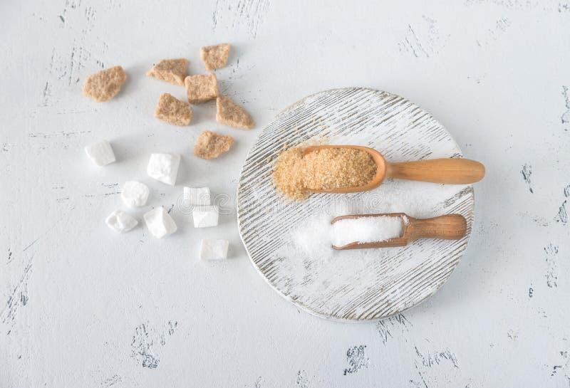 Différents genres de sucre photo stock