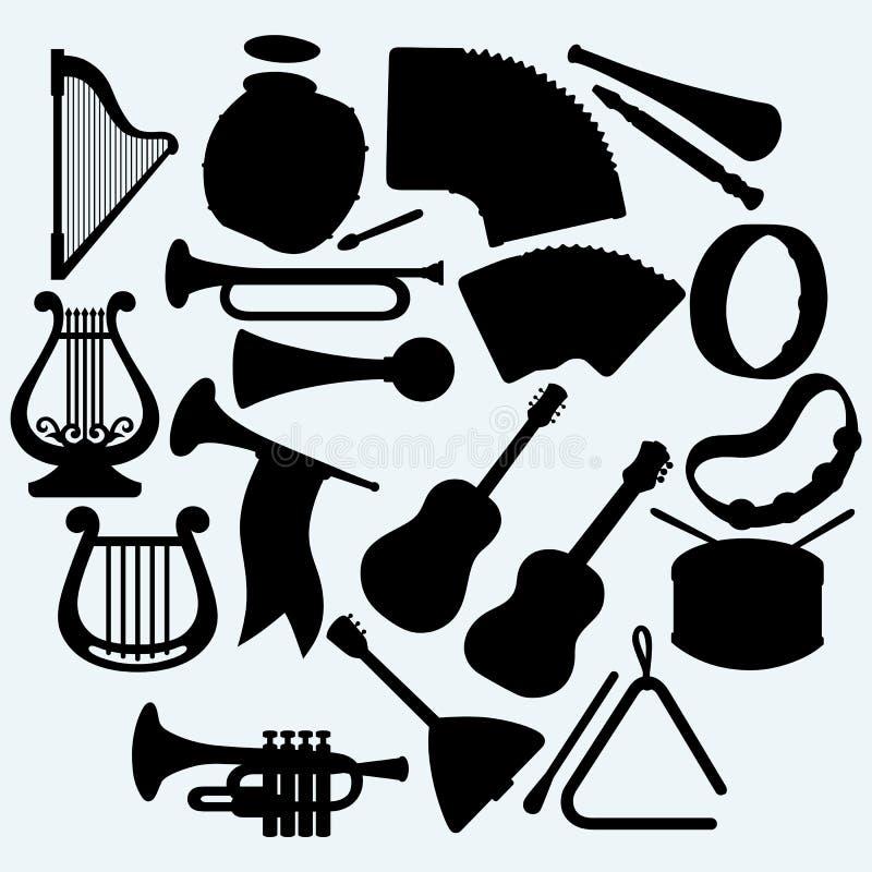 Différents instruments de musique illustration libre de droits