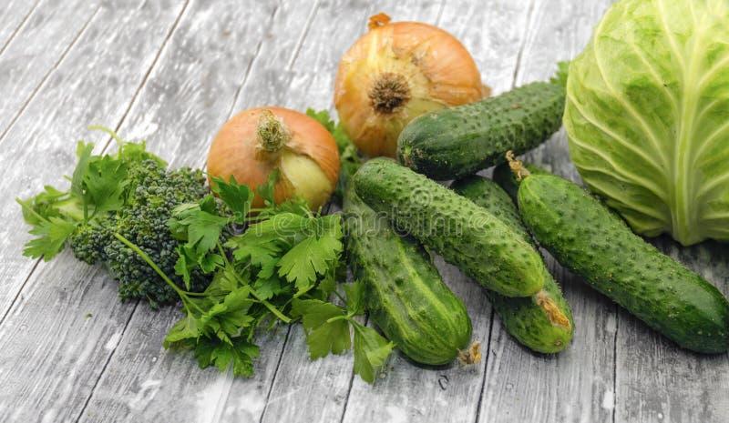Différents légumes verts frais photos libres de droits