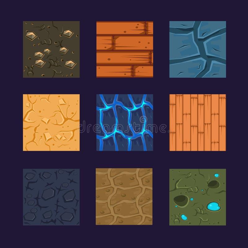 Différents matériaux et textures pour le jeu illustration libre de droits