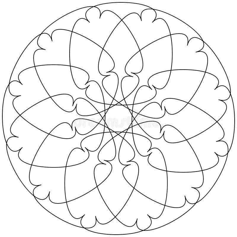 Différents objets géométriques linéaires Lignes de intersection aléatoires FO illustration stock