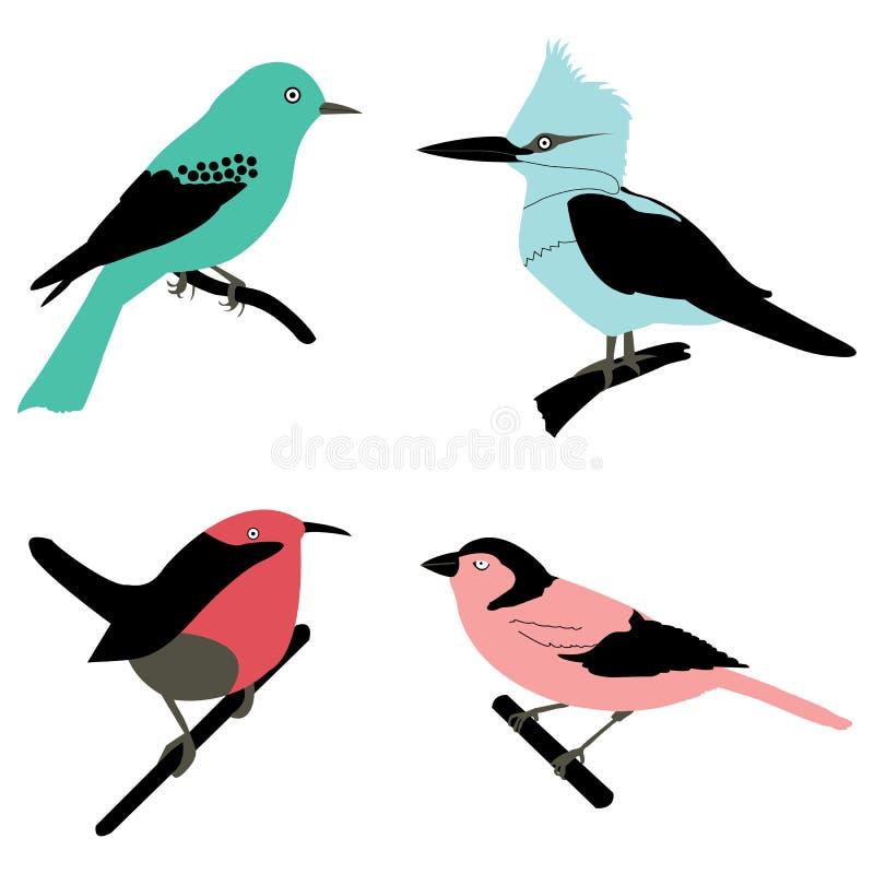 Différents oiseaux illustration libre de droits