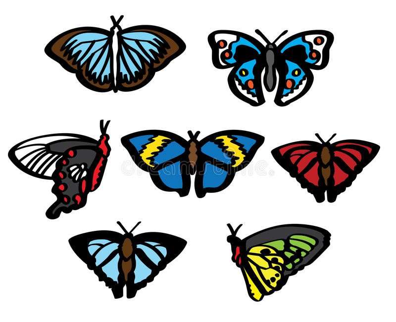 Différents papillons photographie stock