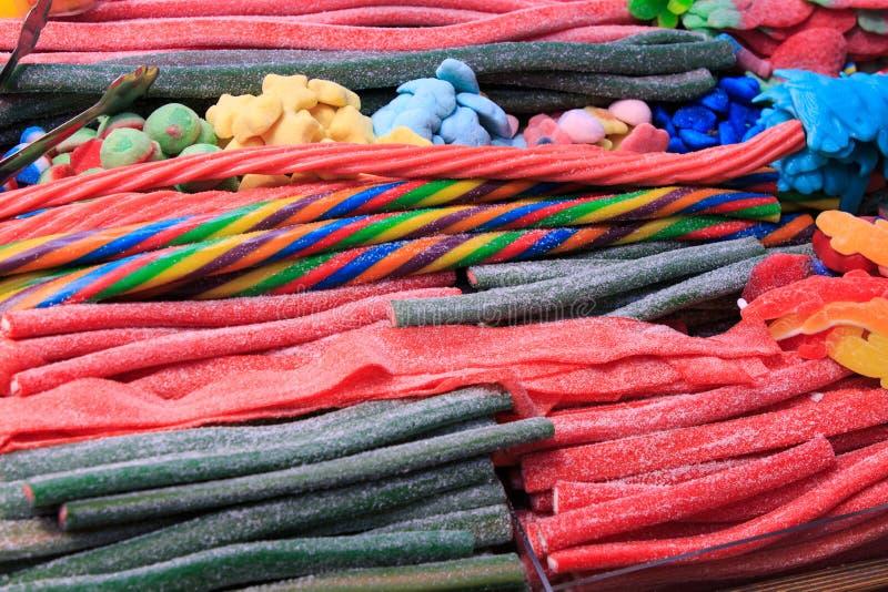 Différents types de bandes de stratification multicolores images libres de droits