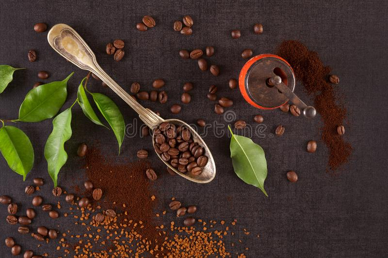 Différents types de café photos stock