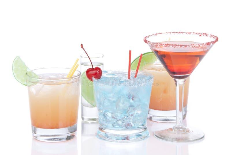 Différents types de cocktails image libre de droits