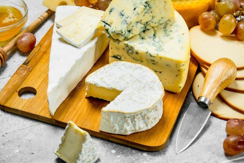 Différents types de fromage photo libre de droits