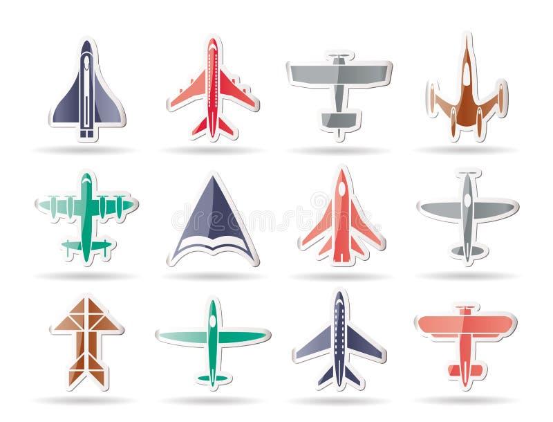 Différents types de graphismes plats illustration de vecteur