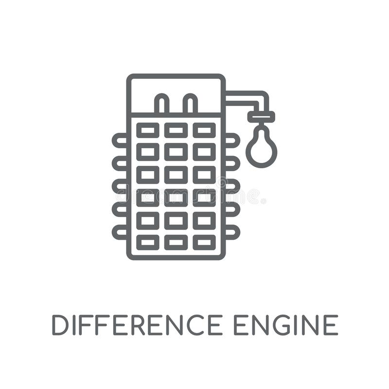 Difference engine linear icon. Modern outline Difference engine royalty free illustration
